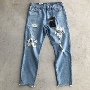 •new• Levi's Light Distressed Tapered Wedgie Jean